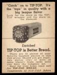 1947 Tip Top Bread  Ray Sanders  Back Thumbnail