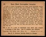 1941 Gum Inc. War Gum #45   Guns Blast Corregidor Invasion Back Thumbnail