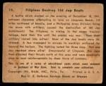1941 Gum Inc. War Gum #14   Filipinos Destroy 154 Japanese Boats Back Thumbnail