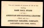 1922 E121-120 American Caramel  P.J. Kilduff  Back Thumbnail