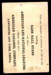 1922 E121-120 American Caramel  Walter Johnson  Back Thumbnail
