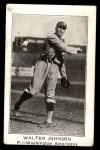 1922 E121-120 American Caramel  Walter Johnson  Front Thumbnail
