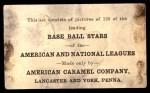 1922 E121-120 American Caramel  Turner Barber  Back Thumbnail