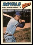 1977 Topps Cloth Stickers #7  George Brett  Front Thumbnail