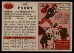 1957 Topps #129  Joe Perry  Back Thumbnail