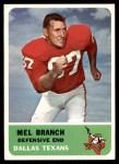1962 Fleer #32  Mel Branch  Front Thumbnail