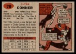 1957 Topps #78  Clyde Conner  Back Thumbnail