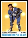 1970 Topps #113  George Armstrong  Front Thumbnail