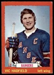1973 Topps #181  Vic Hadfield   Front Thumbnail