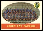 1958 Topps #96   Packers Team Front Thumbnail