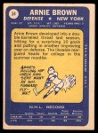 1969 Topps #34  Arnie Brown  Back Thumbnail