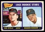 1965 Topps #282   -  Masanori Murakami / Dick Estelle Giants Rookies Front Thumbnail
