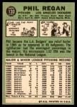 1967 Topps #130  Phil Regan  Back Thumbnail