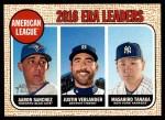 2017 Topps Heritage #8   -  Justin Verlander / Aaron Sanchez / Masahiro Tanaka AL ERA Leaders Front Thumbnail
