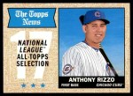 2017 Topps Heritage #372   -  Anthony Rizzo All-Star Front Thumbnail