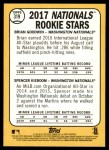 2017 Topps Heritage #319   -  Brian Goodwin / Spencer Kieboom Nationals Rookies Back Thumbnail