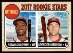 2017 Topps Heritage #319   -  Brian Goodwin / Spencer Kieboom Nationals Rookies Front Thumbnail