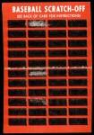 1971 Topps Scratch-Offs  Claude Osteen  Back Thumbnail