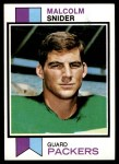 1973 Topps #237  Malcolm Snider  Front Thumbnail