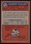 1973 Topps #207  Johnny Fuller  Back Thumbnail