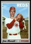 1970 Topps #616  Jim Merritt  Front Thumbnail