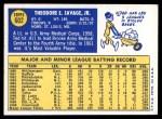 1970 Topps #602  Ted Savage  Back Thumbnail