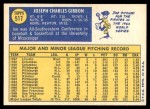 1970 Topps #517  Joe Gibbon  Back Thumbnail
