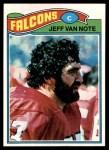 1977 Topps #327  Jeff Van Note  Front Thumbnail