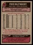 1977 Topps #295  Fred Biletnikoff  Back Thumbnail
