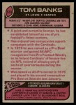 1977 Topps #520  Tom Banks  Back Thumbnail