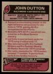 1977 Topps #410  John Dutton  Back Thumbnail