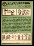 1967 Topps #438  Chuck Dobson  Back Thumbnail