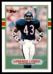 1989 Topps Traded #42 T Lorenzo Lynch  Front Thumbnail