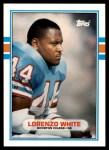 1989 Topps Traded #10 T Lorenzo White  Front Thumbnail