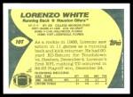 1989 Topps Traded #10 T Lorenzo White  Back Thumbnail