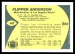 1989 Topps Traded #14 T Flipper Anderson  Back Thumbnail