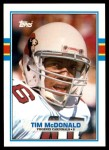 1989 Topps Traded #21 T Tim McDonald  Front Thumbnail