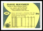 1989 Topps Traded #28 T Dave Waymer  Back Thumbnail