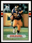 1989 Topps Traded #34 T Ron Brown  Front Thumbnail