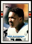 1989 Topps Traded #43 T Mike Alexander  Front Thumbnail
