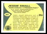 1989 Topps Traded #66 T Jessie Small  Back Thumbnail