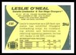 1989 Topps Traded #73 T Leslie O'Neal  Back Thumbnail