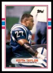 1989 Topps Traded #74 T Keith Taylor  Front Thumbnail