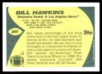 1989 Topps Traded #89 T Bill Hawkins  Back Thumbnail