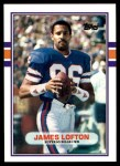 1989 Topps Traded #109 T James Lofton  Front Thumbnail