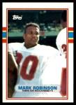 1989 Topps Traded #122 T Mark Robinson  Front Thumbnail