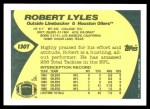 1989 Topps Traded #130 T Robert Lyles  Back Thumbnail
