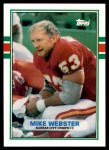 1989 Topps Traded #131 T Mike Webster  Front Thumbnail