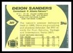 1989 Topps Traded #30 T Deion Sanders  Back Thumbnail