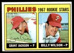 1967 Topps #402 INC  -  Grant Jackson / Billy Wilson Phillies Rookies Front Thumbnail